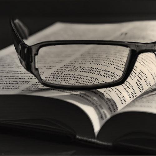 Glasses over Biblical literature